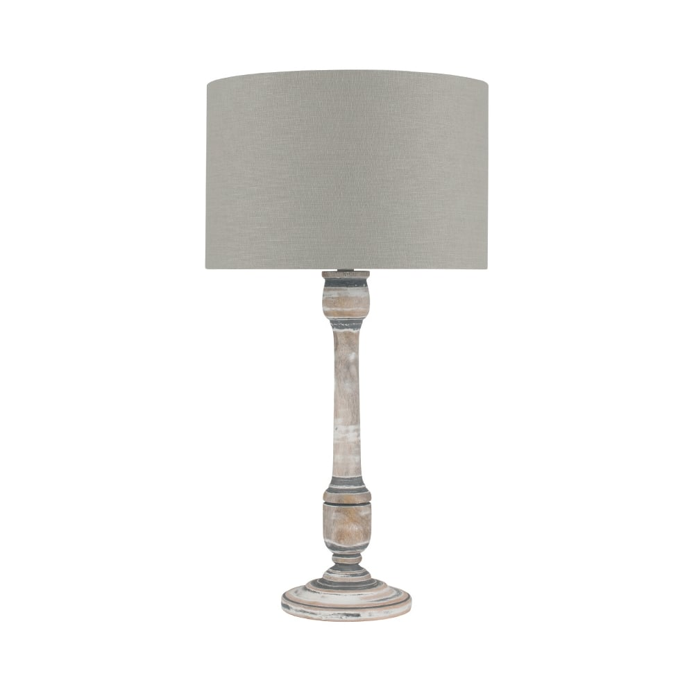 Grey and white table lamp The White