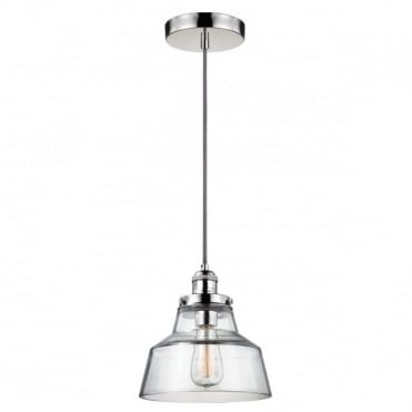 BASKIN 1 Light Pendant Polished Nickel