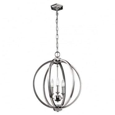 CORINNE 3 Light Medium Pendant  Nickel