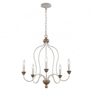 HARTSVILLE 5 Light Ceiling Pendant Chandelier Beachwood