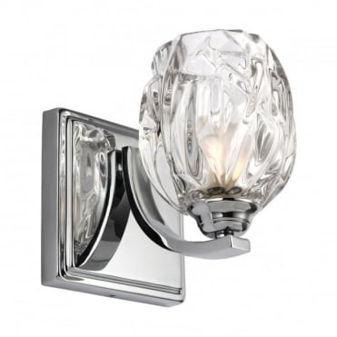 KALLI Modern Chrome Glass Bathroom Wall Light