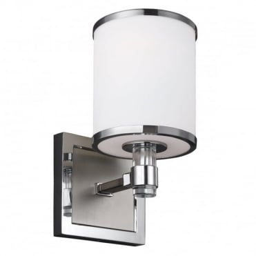 PROSPECT Park Wall Light White Satin Nickel