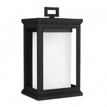 ROSCOE Medium Exterior Wall Lantern Textured Black