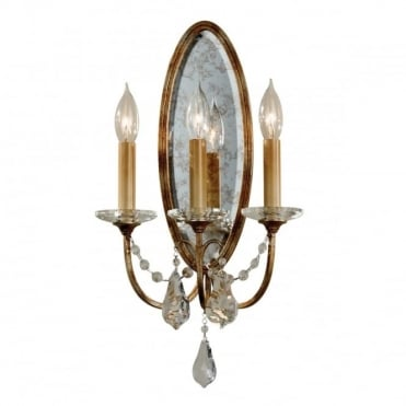 VALENTINA 3 Candle Wall Light Oxidized Bronze