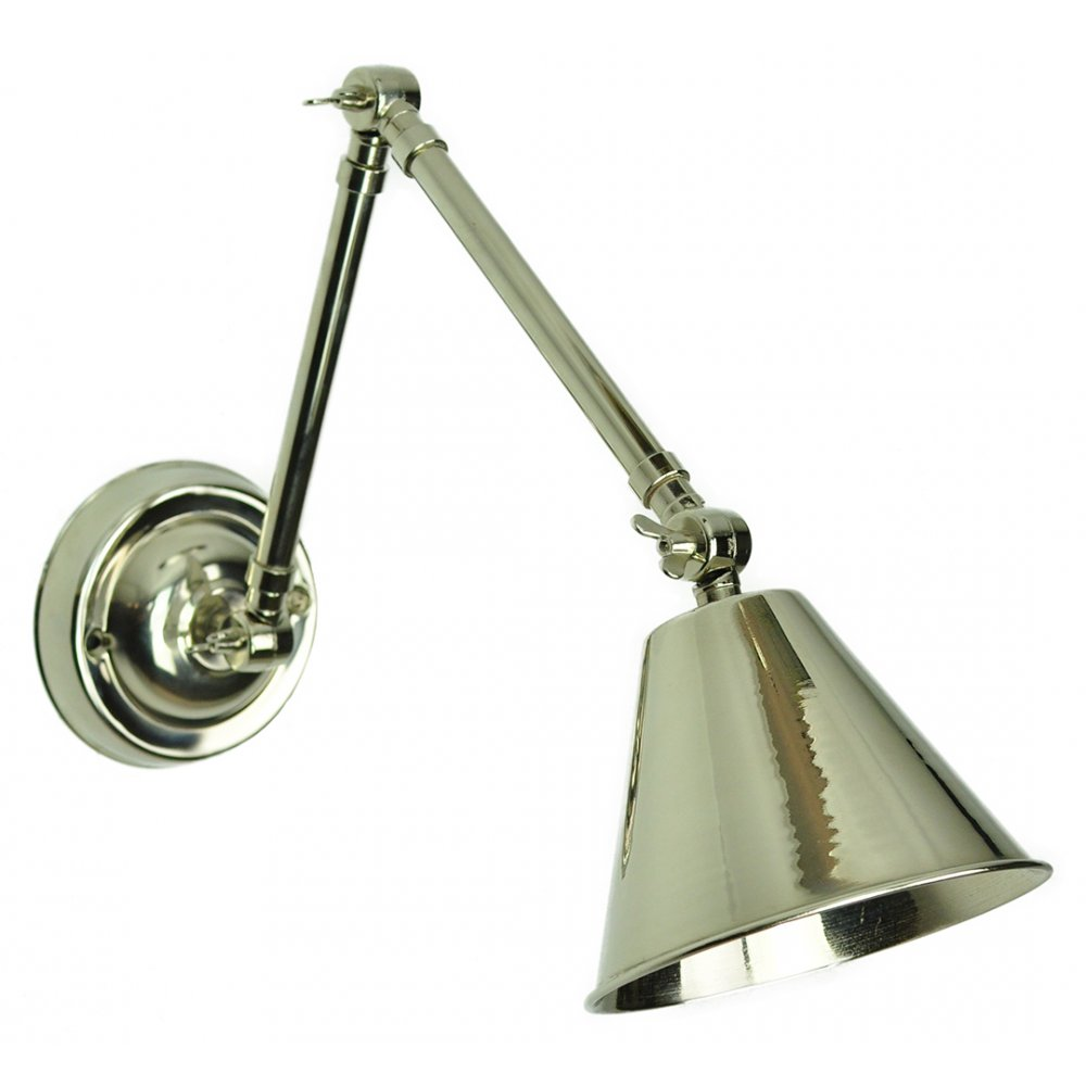 Bon MAP   Room Double Adjustable Wall Light Wall Polished Nickel C/W Lb4 Bulbs