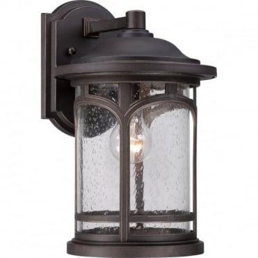 MARBLEHEAD 1 Light Medium Exterior Wall Lantern Bronze - Suitable for use in Coastal Areas