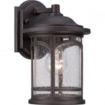 MARBLEHEAD 1 Light Small Exterior Wall Lantern Bronze with Hardwearing Finish, Ideal for Coastal Areas