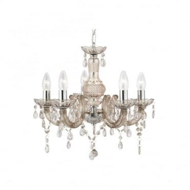 MARIE THERESE 5 Light Acrylic Mink Chandelier