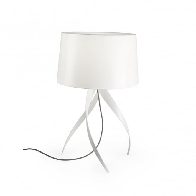 MEDUSA - Sculptured Table Lamp Lamp Matte White with Shade