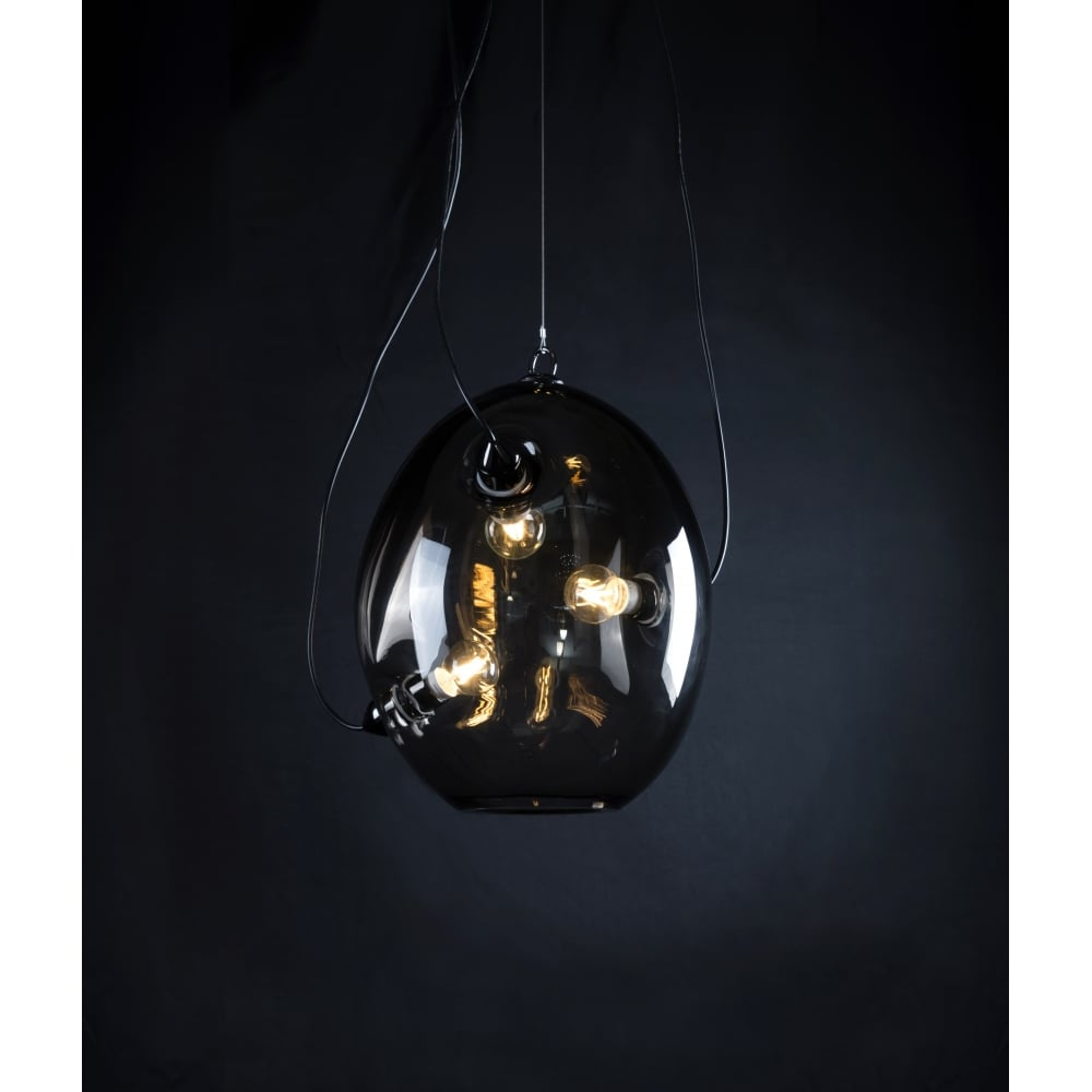 MEMBRANE - Unusual 3 Light Smokey Glass Ceiling Pendant  sc 1 st  Lighting and Lights! & Unusual 3 Light Smokey Glass Ceiling Pendant | Lighting and Lights UK