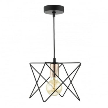 MIDI - 1 Light Ceiling Pendant Black Copper Black