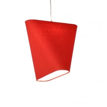 MNM - Large Modern Geometric Ceiling Shade Red Wool