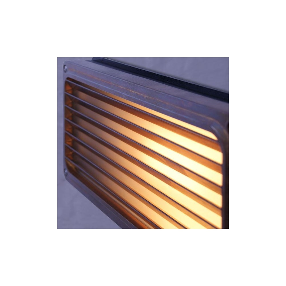 Brass Recessed Grill Wall Light Outdoor