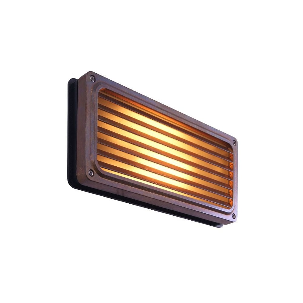 ... Monaghan Lighting AGHER   Exterior Recessed Grill Wall Light In Antique  Brass. U2039