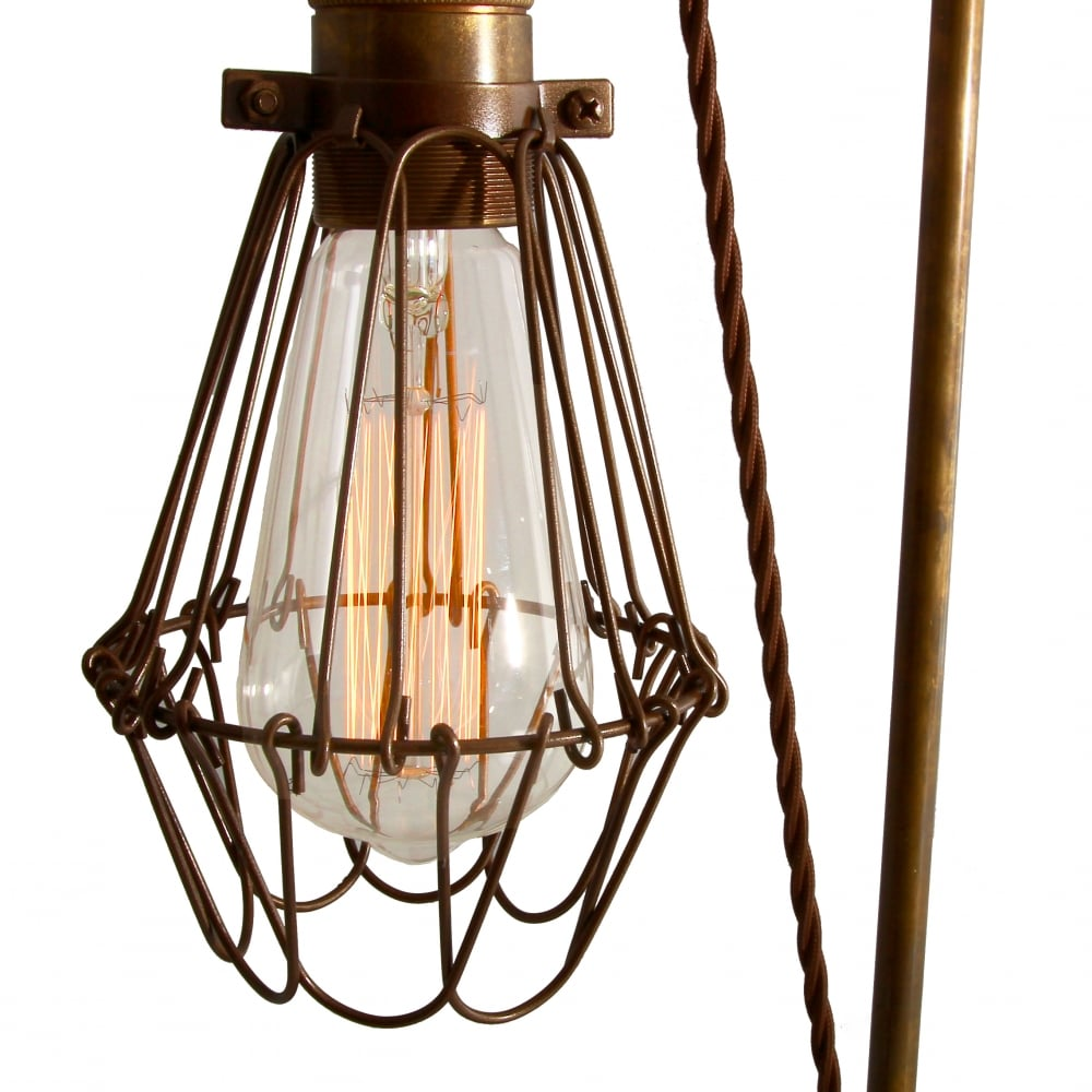 Industrial Pulley Table Lamp Antique Brass - Lighting and ...