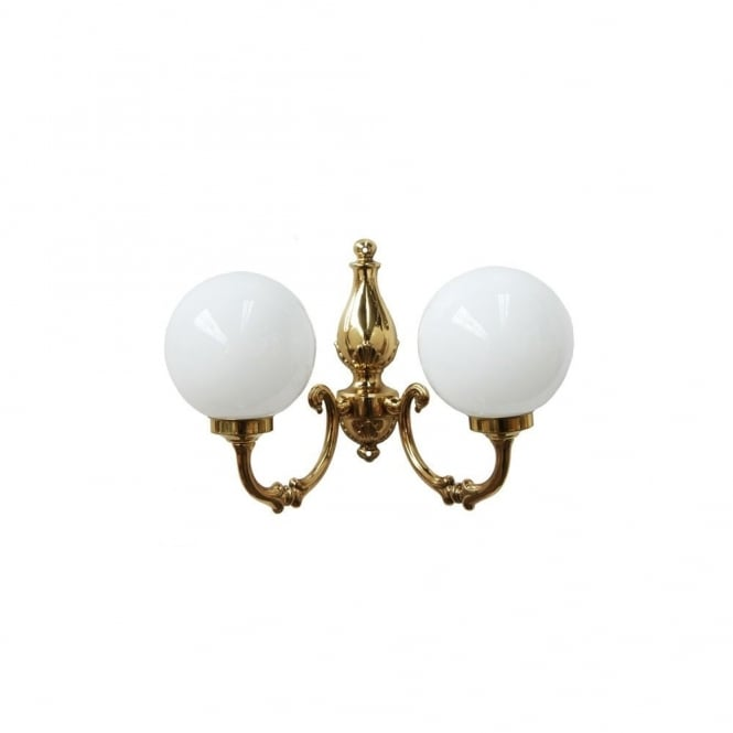 BEN - 2 Arm Traditional Wall Light In Polished Brass