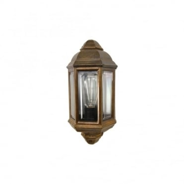 BRENT - Exterior Traditional Exterior Wall Light In Antique Brass