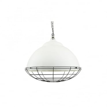 BRUSSELS - Pendant Light In Powder Coated White