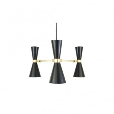 CAIRO - 3 Arm Contemporary Chandelier In Powder Coated Matte Black