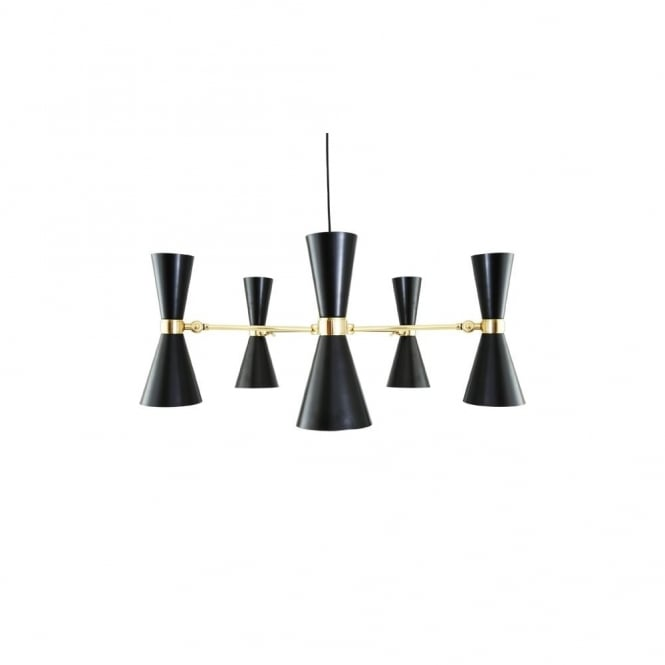 CAIRO - 5 Arm Contemporary Chandelier In Powder Coated Matte Black