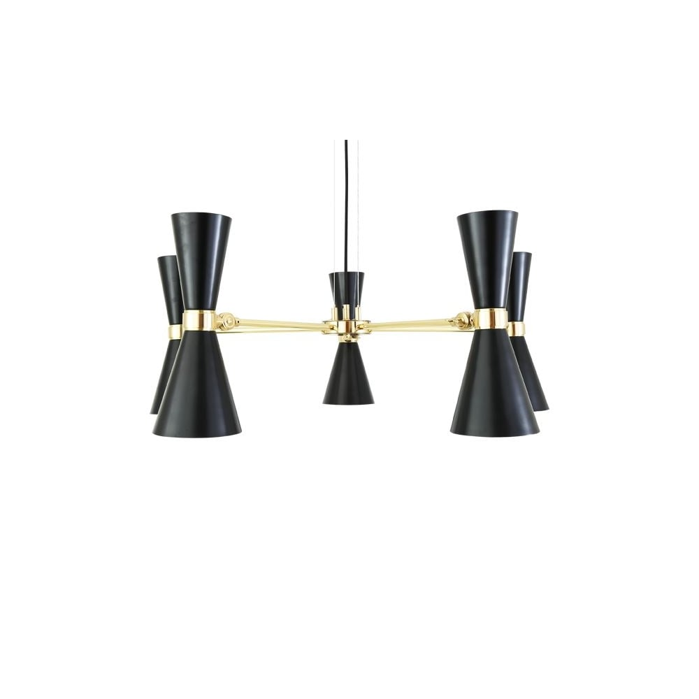 monaghan lighting cairo 5 arm contemporary chandelier in powder coated matte black black chandelier lighting photo 5