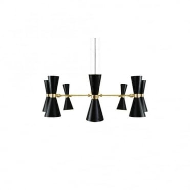 CAIRO - 8 Arm Contemporary Chandelier In Powder Coated Matte Black
