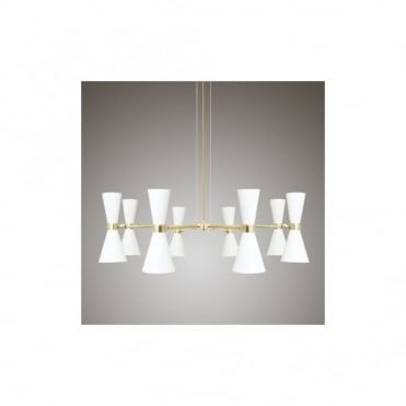 CAIRO - 8 Arm Contemporary Chandelier In Powder Coated White