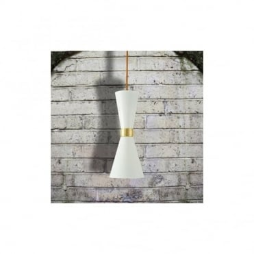 CAIRO - Contemporary Ceiling Pendant Light In Powder Coated White