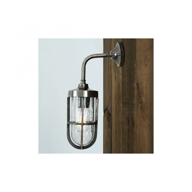 CARAC - Well Glass Wall Light In Antique Silver