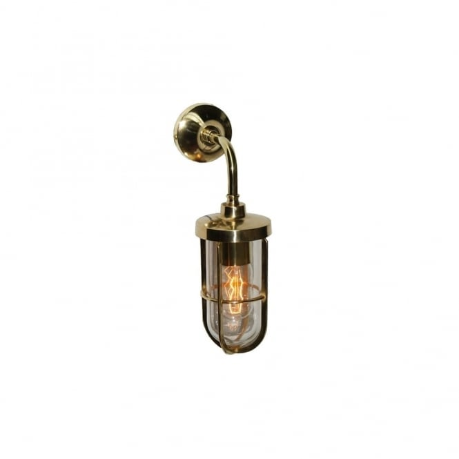 CARAC - Well Glass Wall Light In Polished Brass