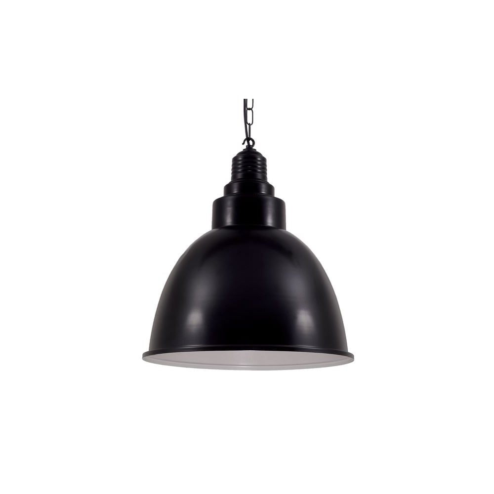 Powder Coated Black Industrial Pendant Lighting And