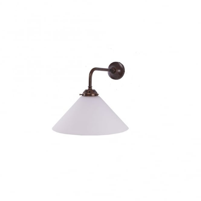 EBB - Coolie Wall Light In Antique Brass