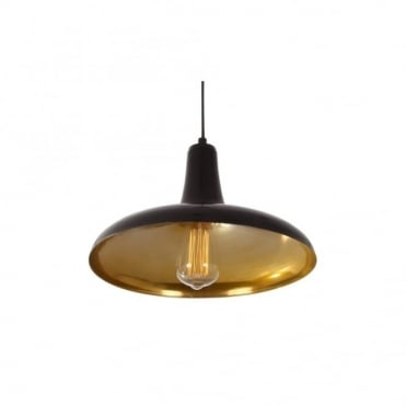 FATIMA - Moroccan Ceiling Pendant Light In Powder Coated Matte Black And Gold