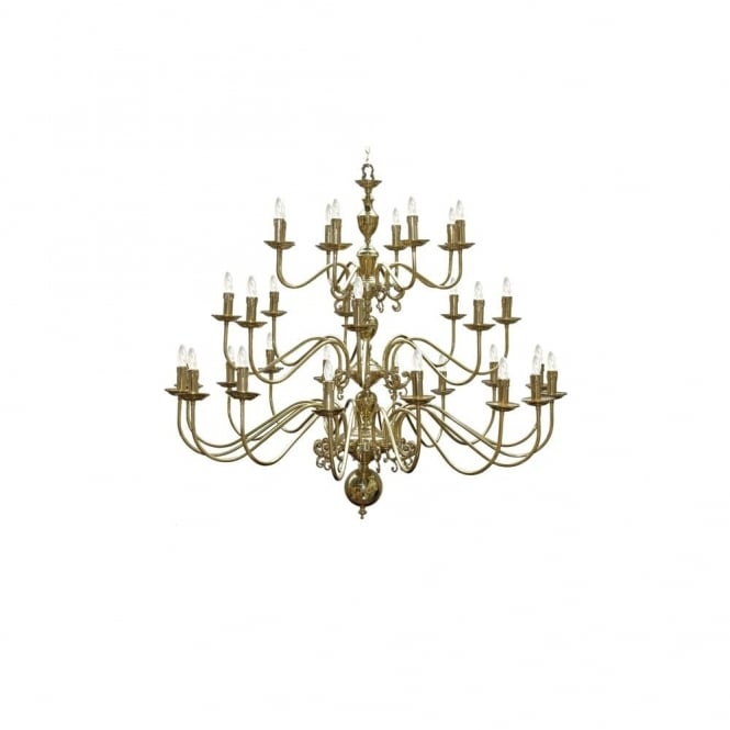 FLEMISH - Chandelier 16+8+8 Arm In Polished Brass