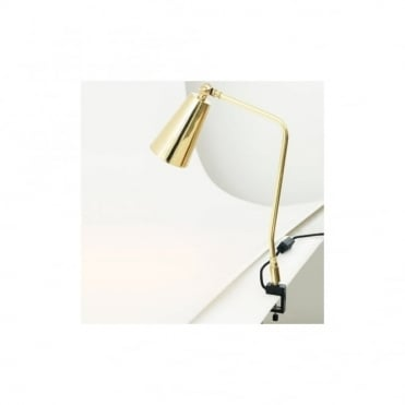 GEORGETOWN - Industrial Clamp Table Lamp In Polished Brass