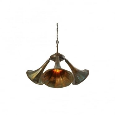 GRAMOPHONE - Quirky Light Fitting In Antique Brass