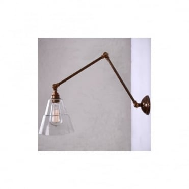 LYX - Adjustable Poster Light In Antique Brass
