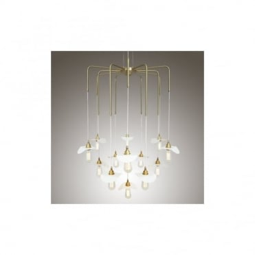 MADABA - Chandelier In Polished Brass