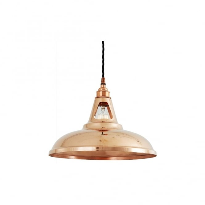 MINSK - Industrial Copper Ceiling Pendant In Polished Copper