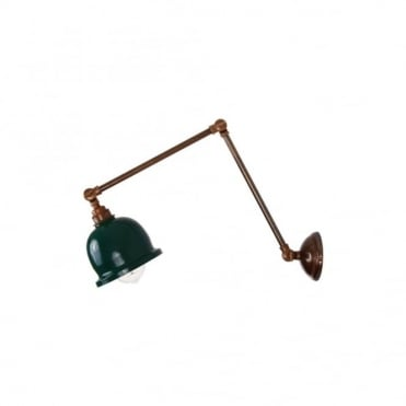 NICO - Adjustable Poster Light In Powder Coated Racing Green