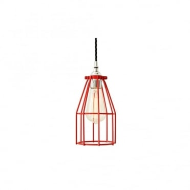 RAZE - Cage Ceiling Pendant Light In Powder Coated Red
