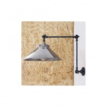 RIO - Adjustable Industrial Wall Light In Antique Silver