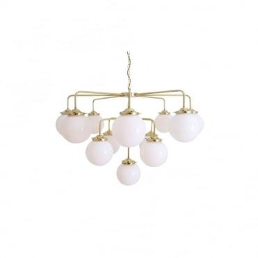 ROME - Chandelier In Polished Brass