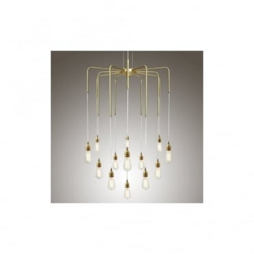 SELA - Chandelier In Polished Brass