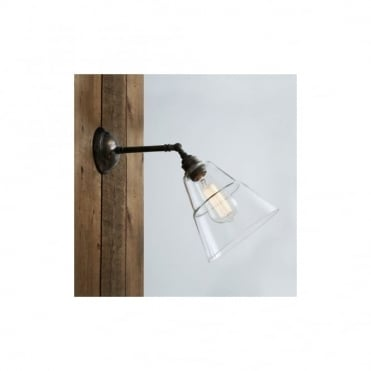 STRAFF - Industrial Wall Light In Antique Silver