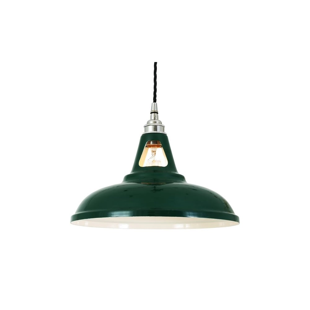 Ornate industrial green ceiling pendant lighting and lights uk vienna industrial ceiling pendant in powder coated racing green aloadofball Choice Image