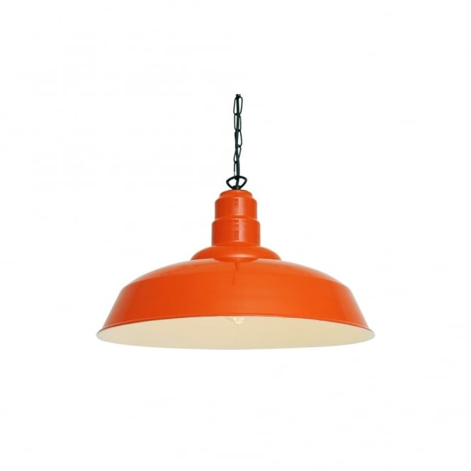 Orange White Aluminium Factory Pendant