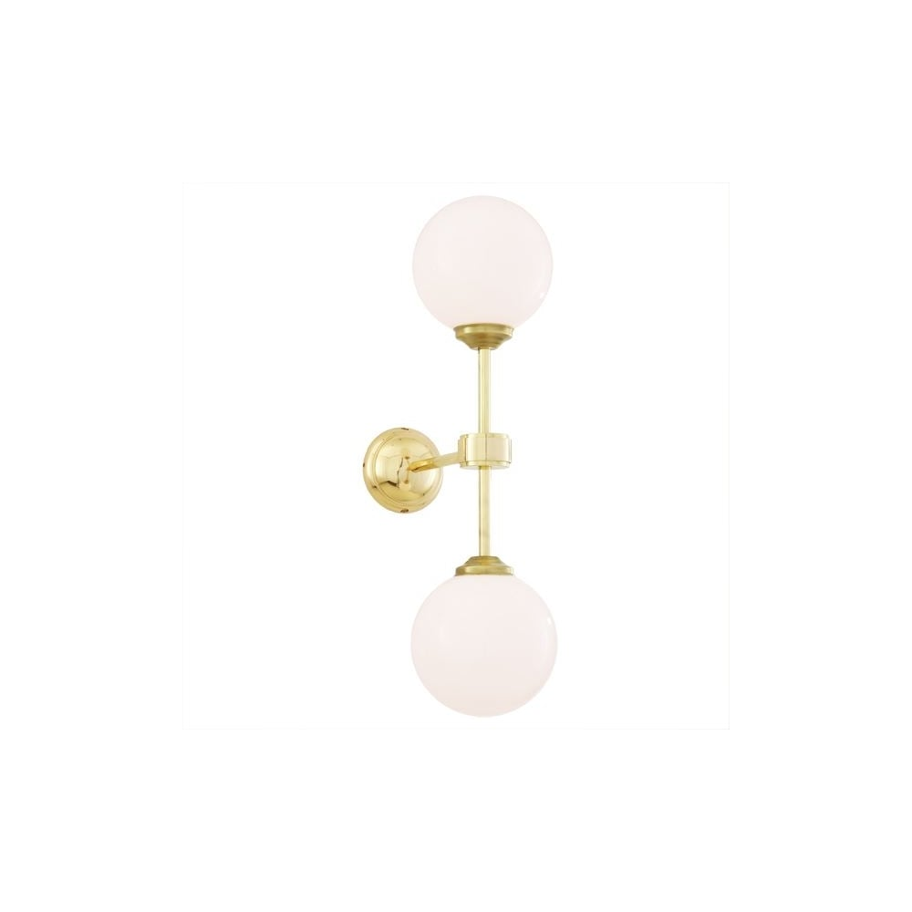 YAOUNDE   Double Globe Wall Light In Polished Brass