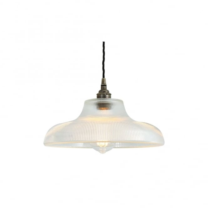 MONO - 30Cm Industrial Railway Ceiling Pendant In Antique Silver