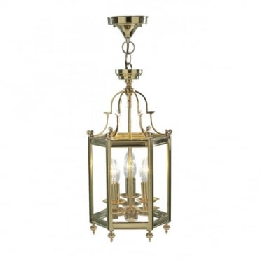 MOORGATE - Brass Gold Traditional Hall Ceiling Lantern